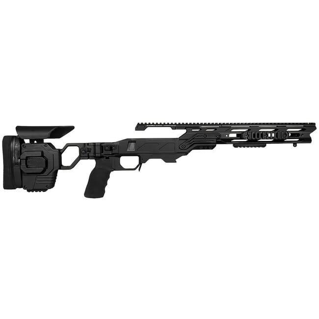 Cadex Lite Strike Chassis (for Remington 700) Long Action, Black with Standard Buttstock for .338 Lapua Mag STKLT-REM-RH-LA-BLK