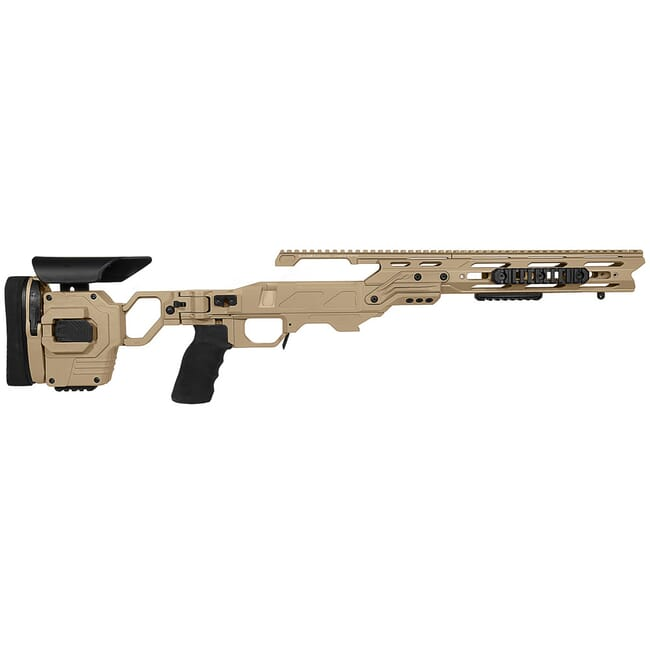 Cadex Defense Lite Strike Tan Tikka-T3 SA for Tikka CTR Mag Standard Folding 20 MOA Chassis STKLT-CTR-RH-SA-R-20-A-TAN