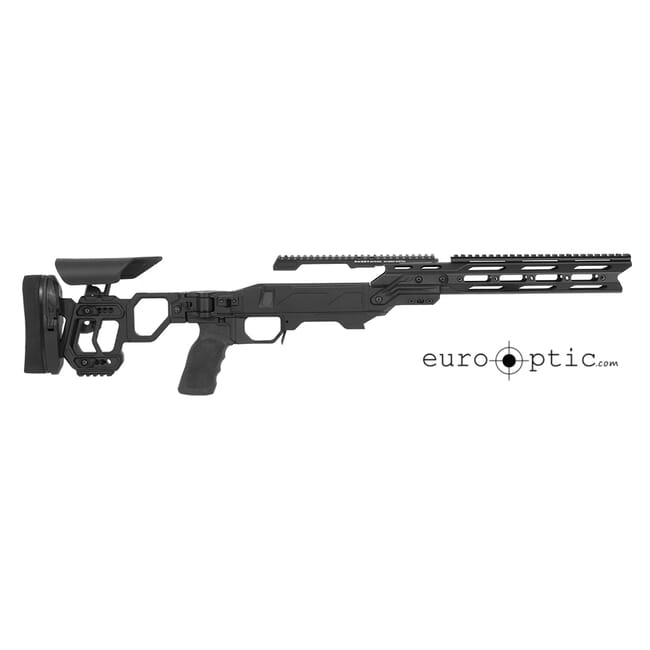 Cadex Lite Strike Chassis (for Remington 700) Long Action, Skeleton Buttstock,  20 MOA, sleeve SSSF 3.715, Top rail screws Black.  MPN STKLT-REM-RH-LA-BLK