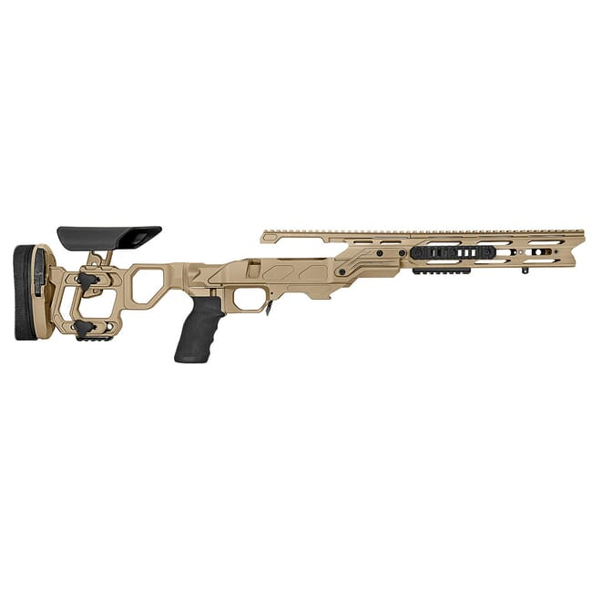 Cadex Defense Field Tactical Tan Rem 700 M24 Skeleton Fixed 20 MOA #6-48 Chassis STKFT-M24-RH-LA-B-206-B-TAN