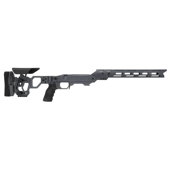 "Cadex Defense Lite Competition M-LOK Sniper Grey Tikka-T3 SA for Accu-Mag Skeleton Folding DSSF 3.055"" Chassis STKLCP-TIK-RH-SA-B-NA-B-GRY"
