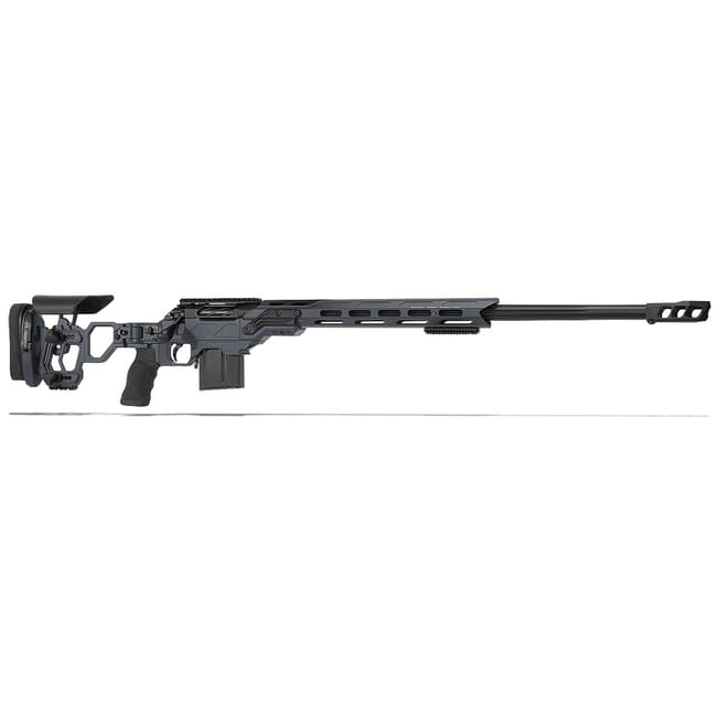 "Cadex Defense R7 Lite Comp M-LOK Sniper Grey/Black 300 Win Mag 26"" 30 MOA Skeleton Rifle CDXR7-LCP-300-26-B-MB-HGB"