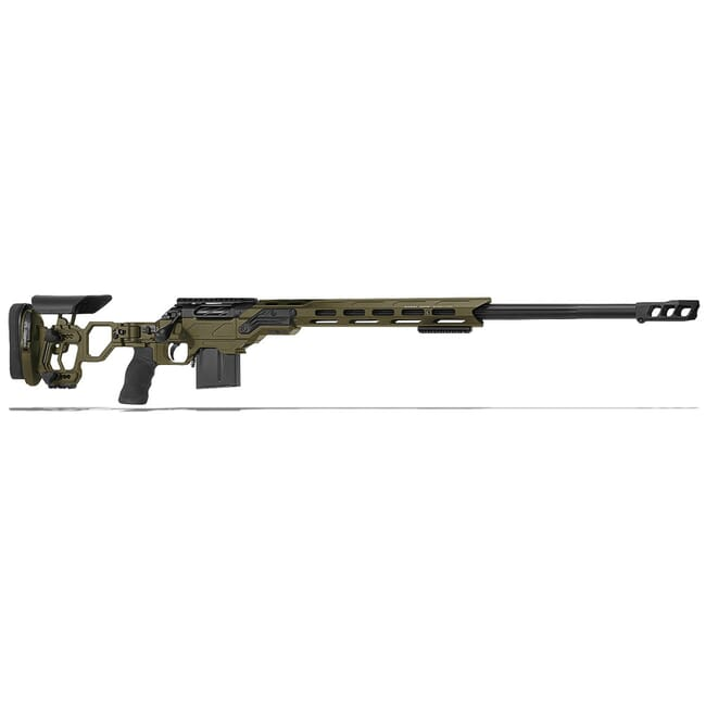 "Cadex Defense R7 Lite Comp M-LOK OD Green/Black 300 Win Mag 26"" 30 MOA Skeleton Rifle CDXR7-LCP-300-26-B-MB-HOD"