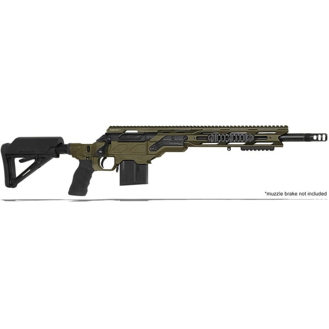 "Cadex Defense R7 C.O.P.S. (Takedown) OD Green/Black 308 Win 16.5"" 20 MOA Standard Rifle CDXR7-COPS-308-165-R-MB-HOD"