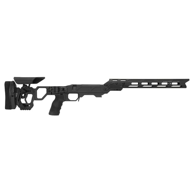 Cadex Defense Lite Competition M-LOK Black Tikka-T3 SA for Tikka CTR Mag Skeleton Folding Chassis STKLCP-CTR-RH-SA-B-NA-A-BLK