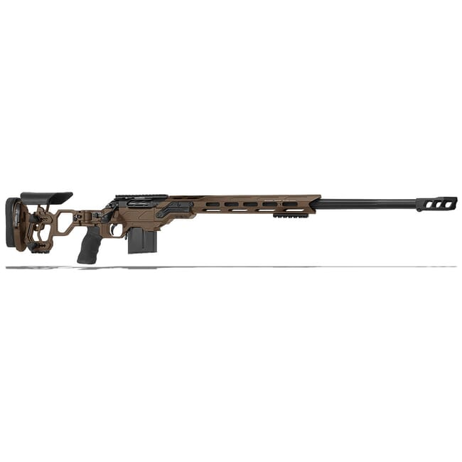 "Cadex Defense R7 Lite Comp M-LOK Stealth Shadow/Black 300 Win Mag 26"" 30 MOA Skeleton Rifle CDXR7-LCP-300-26-B-MB-HSB"