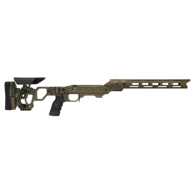 "Cadex Defense Lite Competition M-LOK OD Green Rem 700 LA Skeleton Folding for SSSF 3.850"" CIP Chassis STKLCP-REM-RH-LA-B-NA-E-ODG"