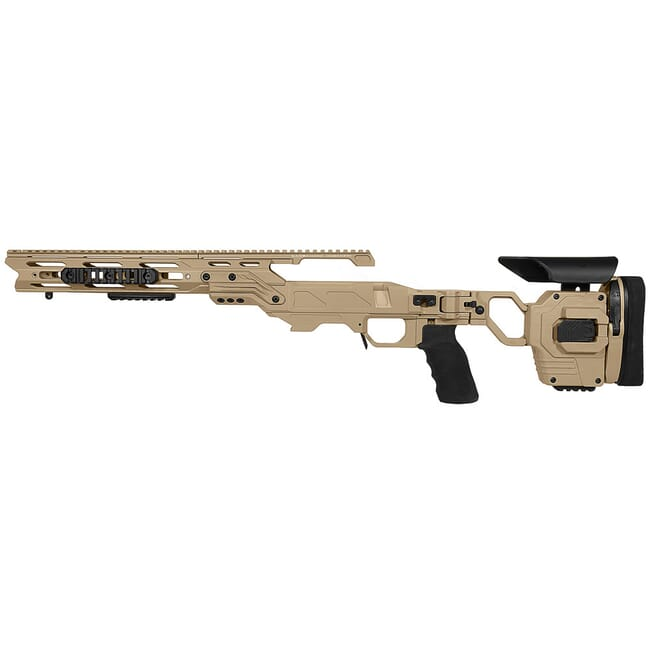 Cadex Defense Lite Strike Tan Tikka-T3 SA for Tikka CTR Mag LH Standard Folding 20 MOA Chassis STKLT-CTR-LH-SA-R-20-A-TAN