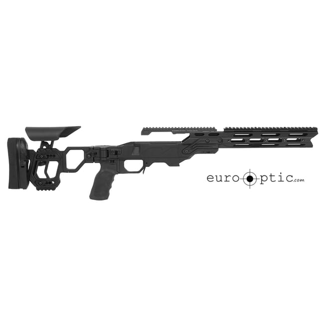 Cadex Lite Strike Chassis (for Remington 700) Short Action, Skeleton Buttstock,  20 MOA, sleeve DSSF 3.055 Black.  MPN STKLT-REM-RH-SA-BLK