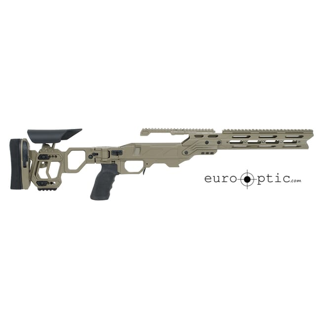 Cadex Lite Strike Chassis (for Remington 700) Short Action, Skeleton Buttstock,  20 MOA, sleeve DSSF 3.055 Tan.  MPN STKLT-REM-RH-SA-TAN