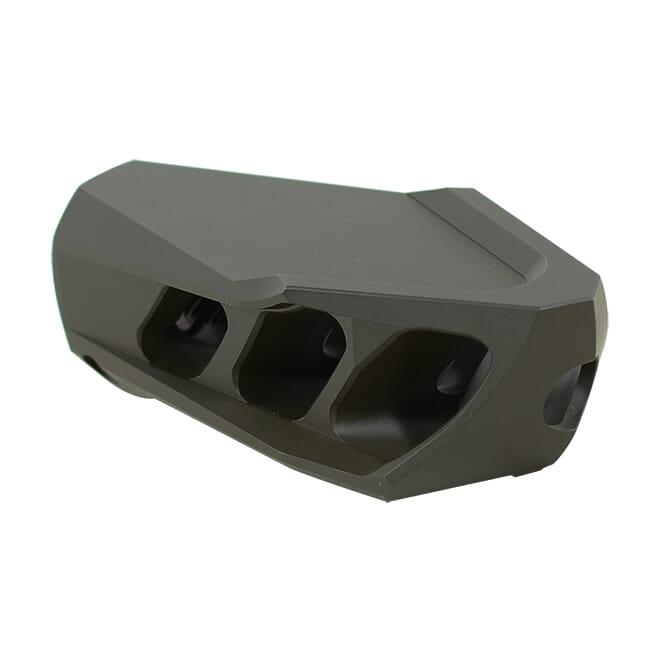 Cadex MX1 Muzzle Brake Olive Drag Green for 50BMG (1-14 thrd) 3850-044-ODG. Used UA1751