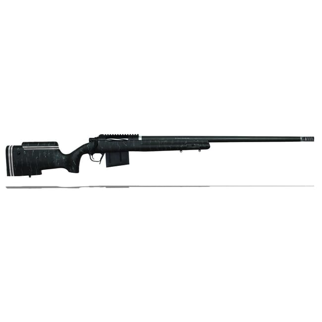 "Christensen Arms B.A. Tactical 338 Lapua Mag 27"" 1/9.3"" Fiberglass Carbon Black w/ Gray Webbing Stock 810-04003-00"
