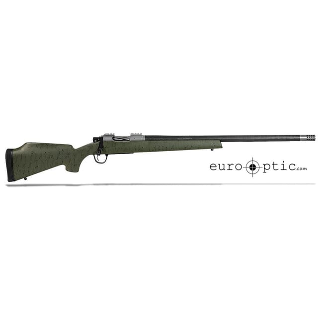 "Christensen Arms Classic .243 Win 24"" Green W/Black Webbing Rifle  CA10281-K14412"
