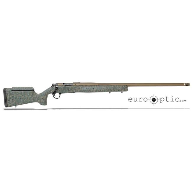 """Christensen Arms Mesa Long Range 308 Win 24"""" 1:10 Green w/ Blk & Tan Webbing Rifle 801-02007-00"""