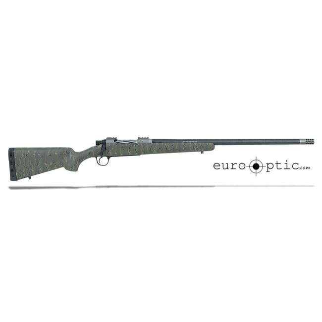 "Christensen Arms Summit Ti 6.5 Creedmoor 24"" Green W/Black And Tan Webbing Rifle CA10268-H14233"