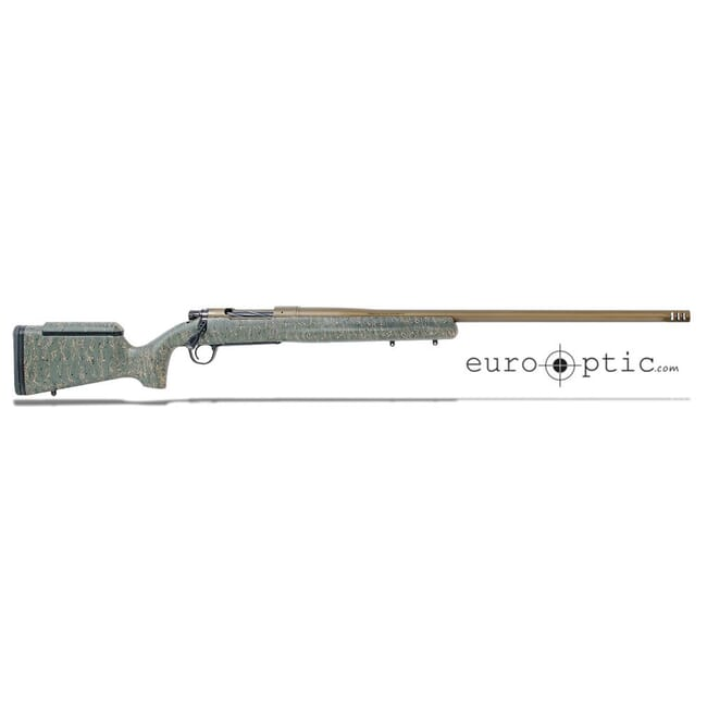 "Christensen Arms Mesa Long Range 6.5 PRC 26"" 1:8 Green w/ Black & Tan Webbing Bronze Barrel Rifle 801-02012-00"