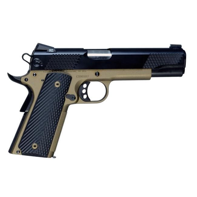 Christensen Arms Government Lite 5in-Classic 45ACP Titanium Frame-Stainless Slide G10 grips-Burnt Br
