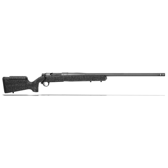 "Christensen Arms Mesa Long Range .338 Lapua Mag 27"" 1:9 Tungsten Black w/ Gray Webbing Rifle 801-02015-00"
