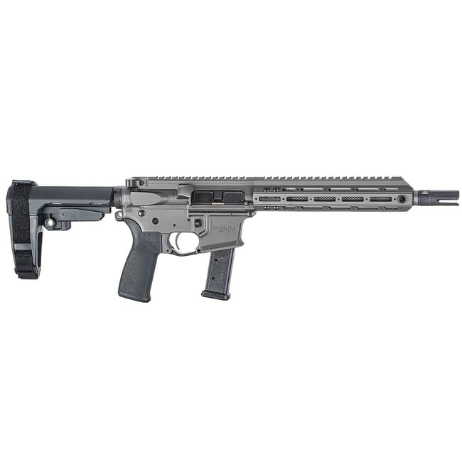 "Christensen Arms CA9MM 9mm 10.5"" 1:10"" M-LOK Tungsten AR Pistol w/SB3 Tactical Brace 801-11007-02"