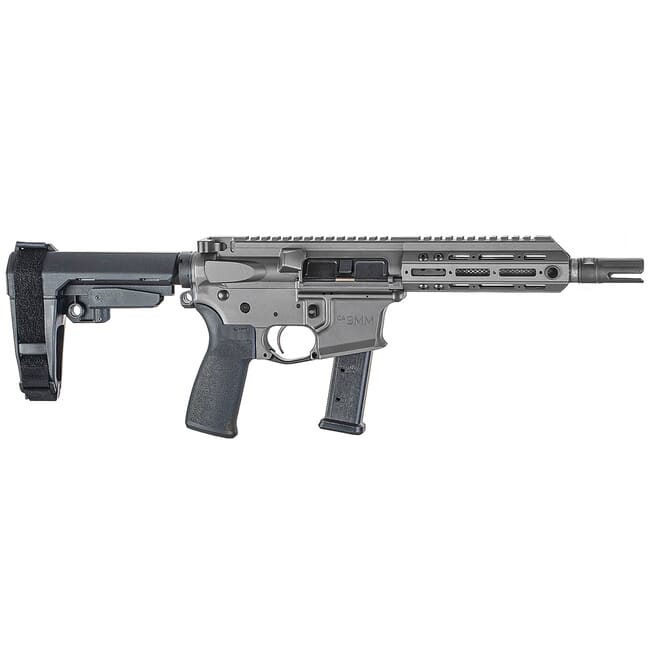 "Christensen Arms CA9MM 9mm 7.5"" 1:10"" M-LOK Tungsten AR Pistol w/SB3 Tactical Brace 801-11006-02"