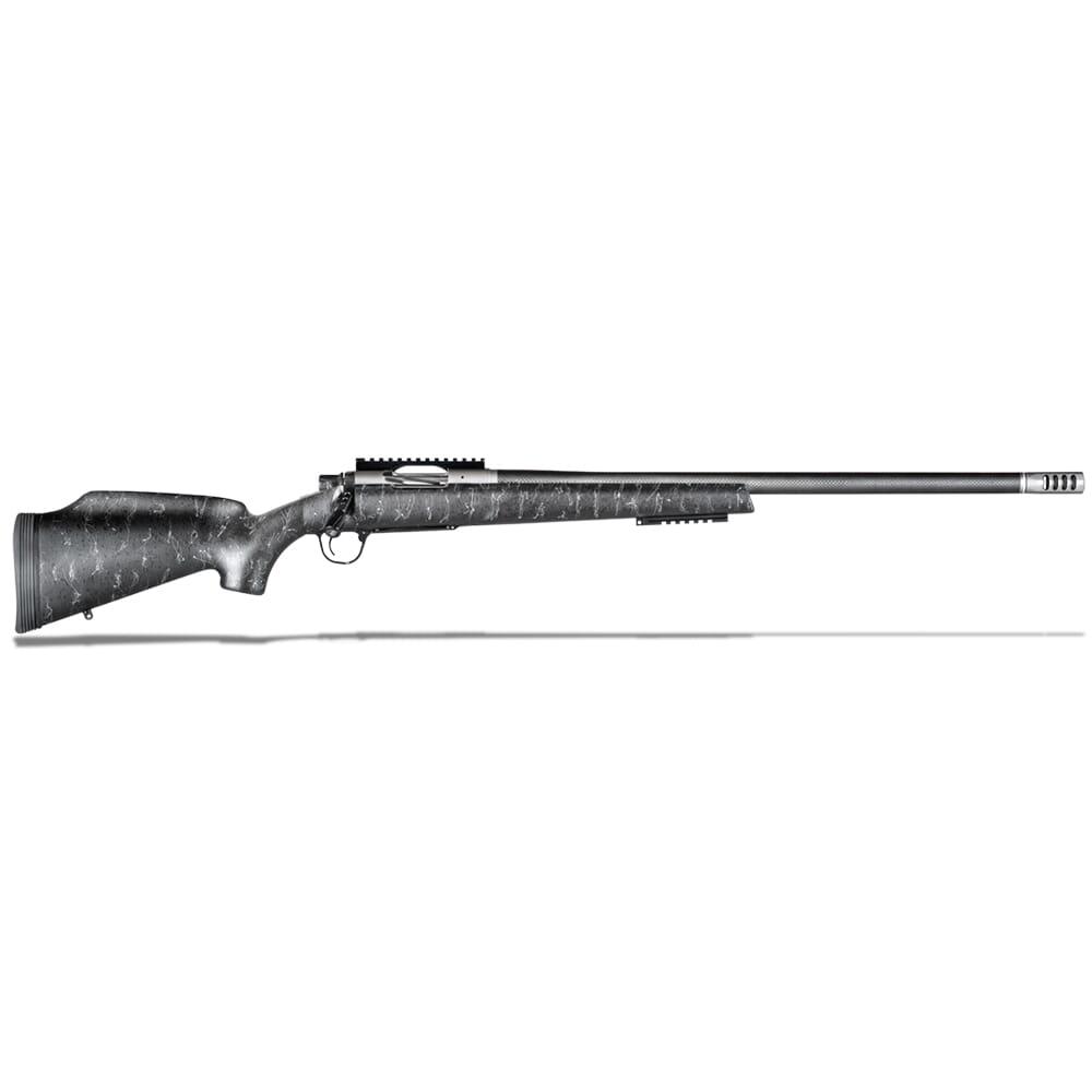 """Christensen Arms Traverse 6.5 PRC 24"""" 1:8"""" Black w/ Gray Webbing Rifle 801-10004-00"""