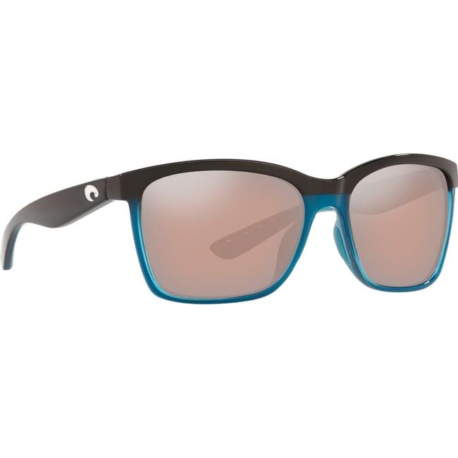 Costa Anaa Sea Glass Frame Sunglasses w/ Copper Silver Mirror 580P Lenses ANA-152OC-OSCP
