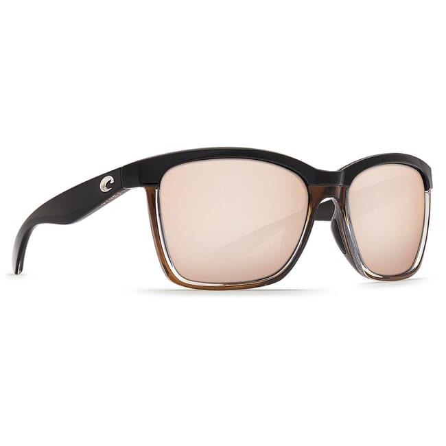 Costa Anaa Shiny Black on Brown Frame Sunglasses ANA-107