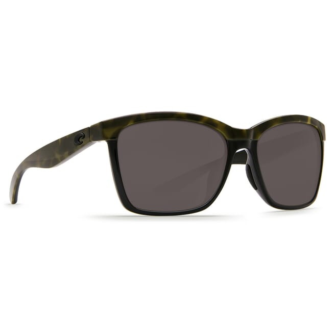 Costa Anaa Shiny Olive Tortoise on Black Frame Sunglasses w/ Gray 580P Lenses ANA-109-OGP