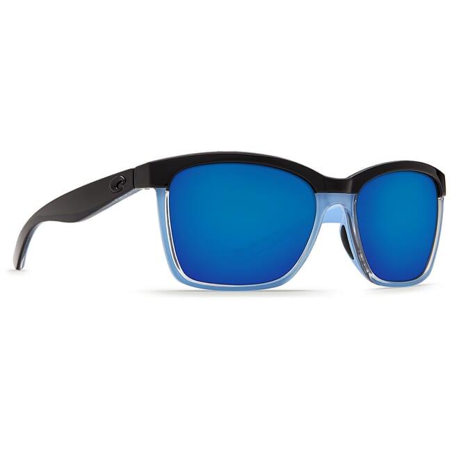 Costa Anaa Shiny Black/Crystal/Lt Blue Frame Sunglasses ANA-97