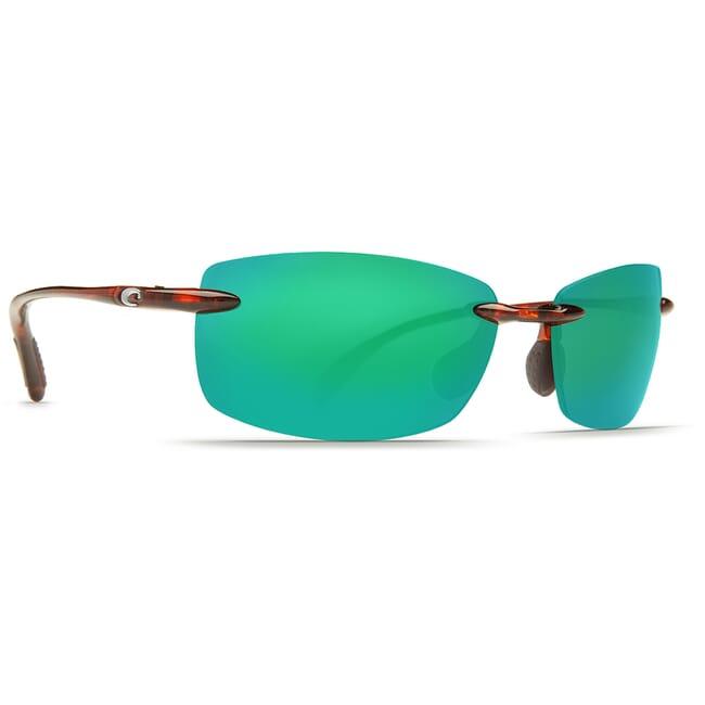 Costa Ballast Tortoise Frame Sunglasses w/ Green Mirror C-Mate 1.50 Lenses BA-10-OGMP-1.50