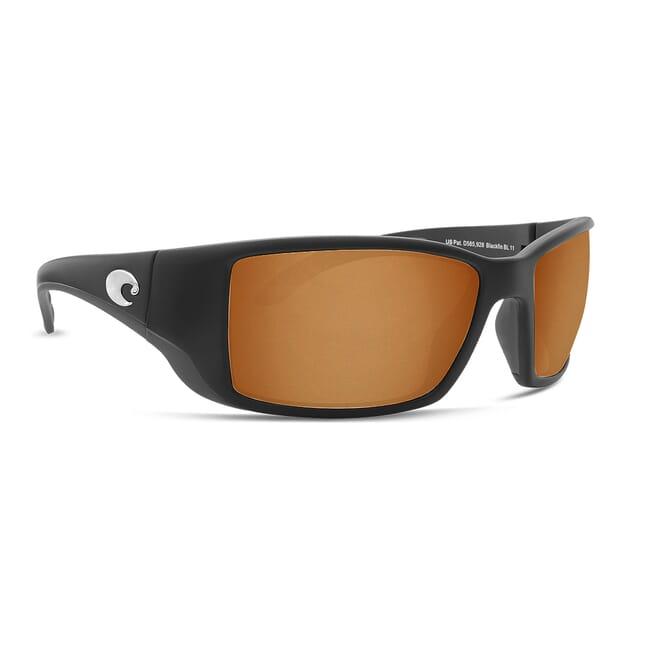 Costa Blackfin Matte Black Global Fit Frame Sunglasses w/ Copper 580G Lenses BL-11GF-OCGLP