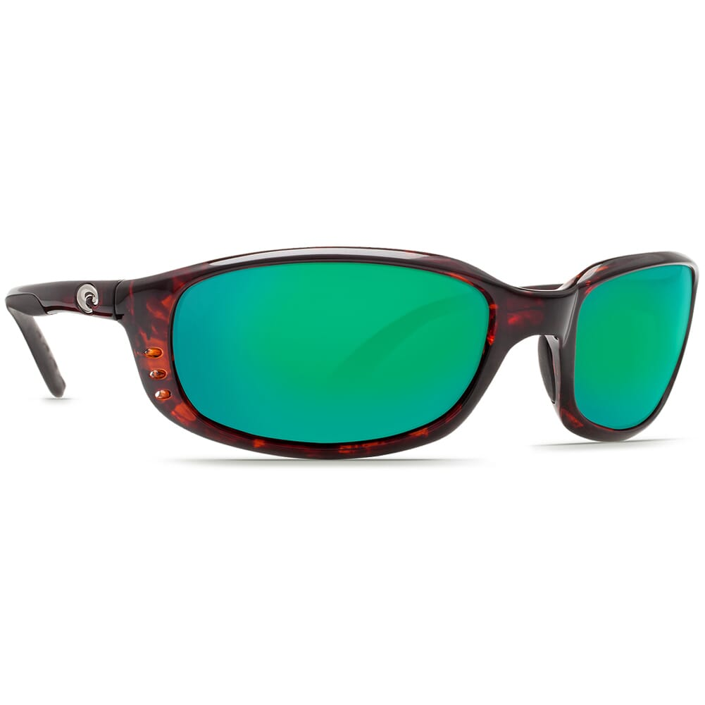 Costa Brine Tortoise Frame Sunglasses w/Green Mirror 580P Lenses - New Without Tags 06S9017-90170659