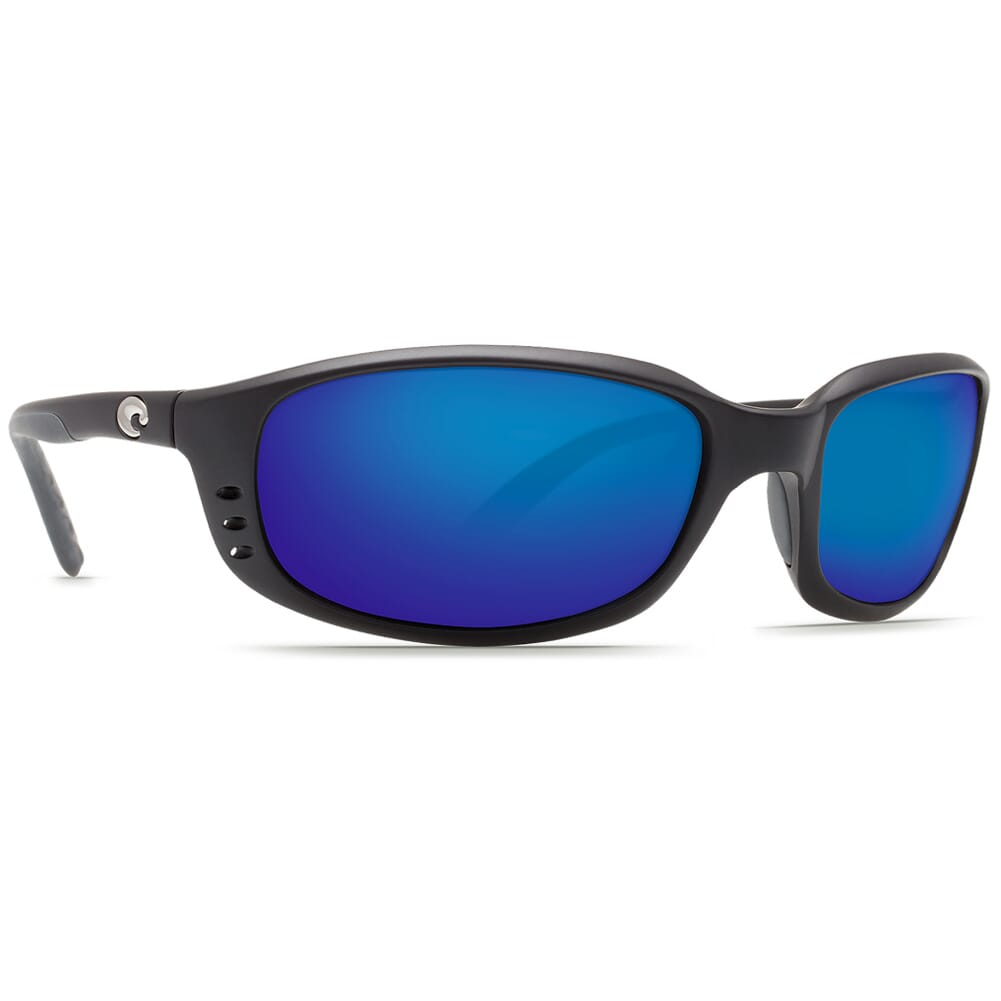 Costa Brine Matte Black Frame Sunglasses w/Blue Mirror 580P Lenses - New Without Tags 06S9017-90170759