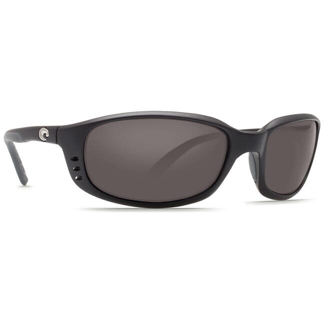 Costa Brine Matte Black Frame Sunglasses w/ Gray 580P C-Mate 2.00 Lenses BR-11-OGP-2.00