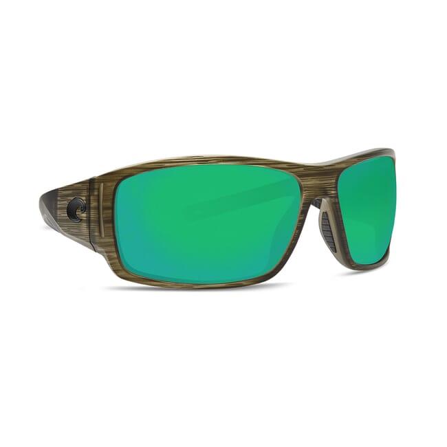 Costa Cape Bowfin Frame Sunglasses w/ Green Mirror 580P Lenses CAP-189-OGMP