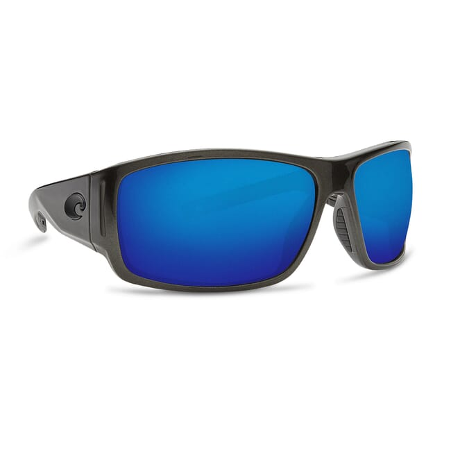 Costa Cape Steel Gray Metallic Frame Sunglasses w/ Blue Mirror 580P Lenses CAP-199-OBMP