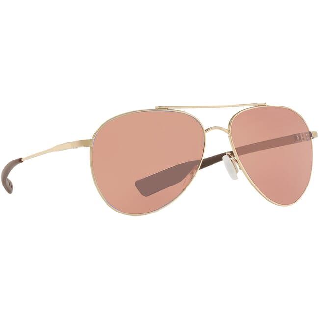 Costa Cook Shiny Gold Frame Sunglasses COO-126