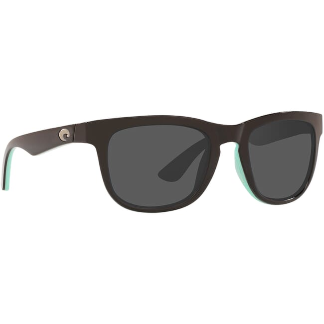 Costa Copra Shiny Black/Mint Frame Sunglasses COP-176