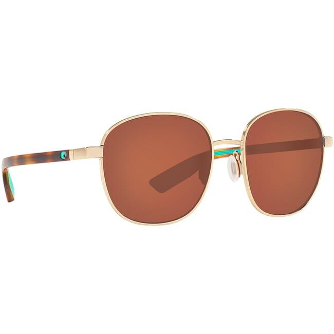 Costa Egret Shiny Gold w/ Shiny Tortoise Temples Sunglasses EGR-296