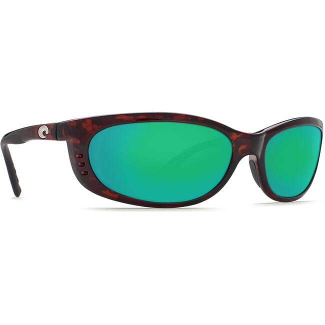 Costa Fathom Tortoise Global Fit Frame Sunglasses w/ Green Mirror 580P Lenses FA-10GF-OGMP
