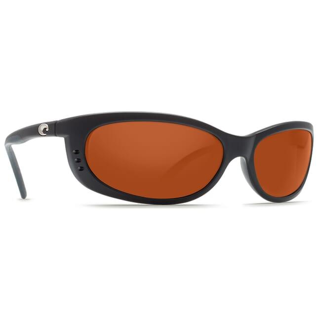 Costa Fathom Matte Black Global Fit Frame Sunglasses w/ Copper Silver Mirror 580G Lenses FA-11GF-OSCGLP