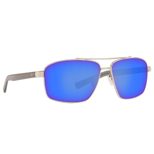 Costa Flagler Shiny Silver Frame Sunglasses FLG-18