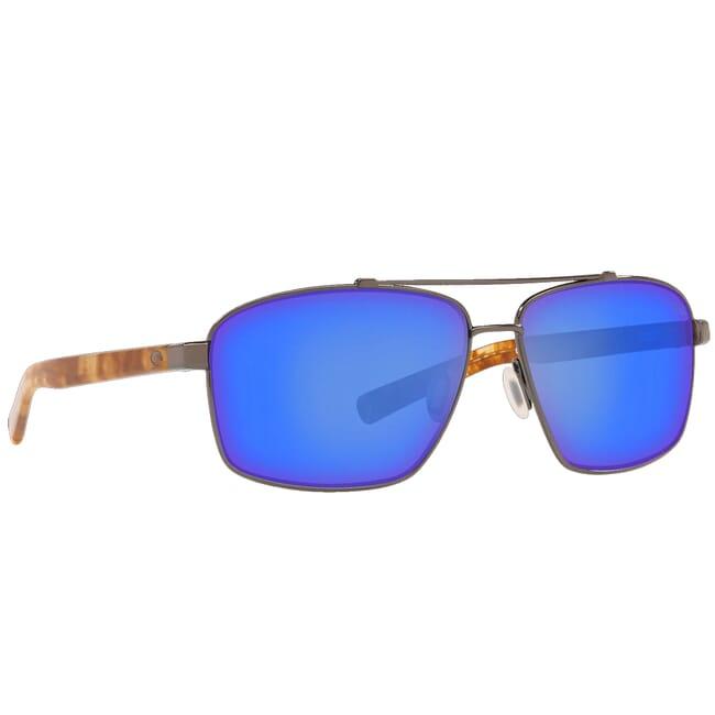 Costa Flagler Shiny Gunmetal Frame Sunglasses FLG-22