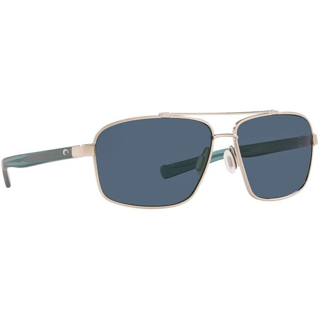 Costa Flagler Brushed Silver Frame Sunglasses FLG-262