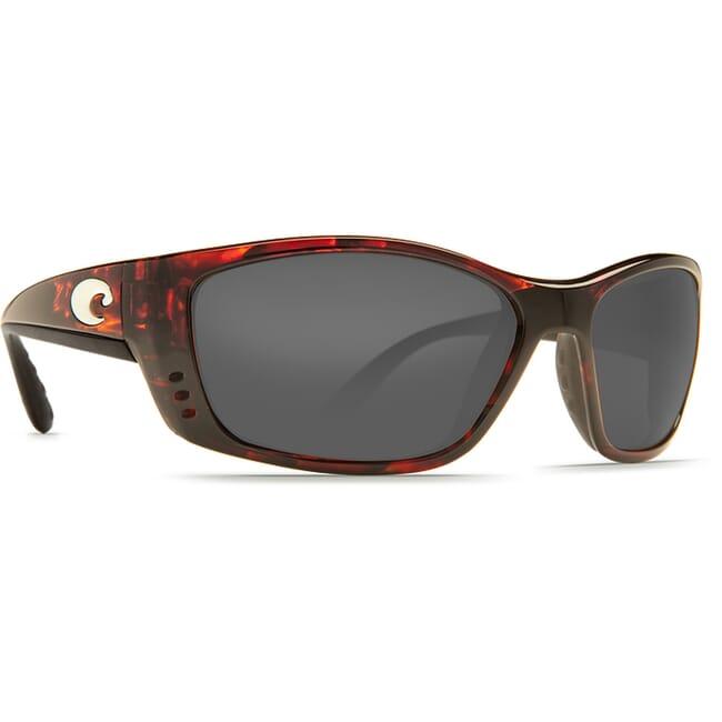 Costa Fisch Tortoise Global Fit Frame Sunglasses w/ Gray 580P Lenses FS-10GF-OGP