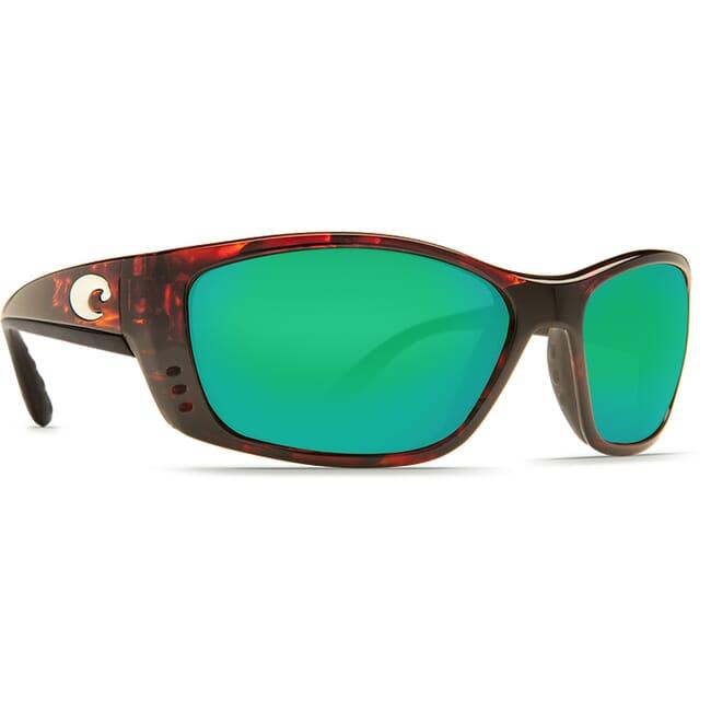 Costa Fisch Tortoise Global Fit Frame Sunglasses w/ Green Mirror 580G Lenses FS-10GF-OGMGLP