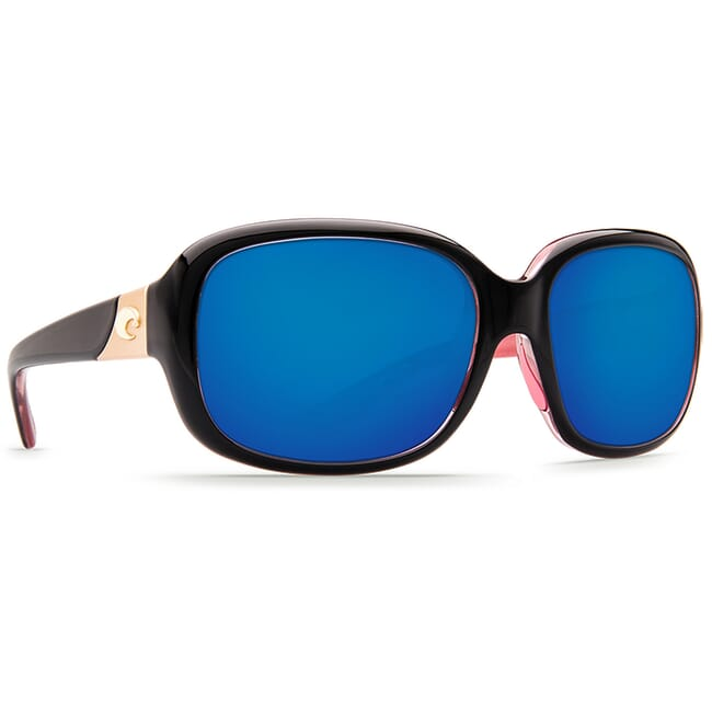 Costa Gannet Shiny Black Hibiscus Frame Sunglasses GNT-132