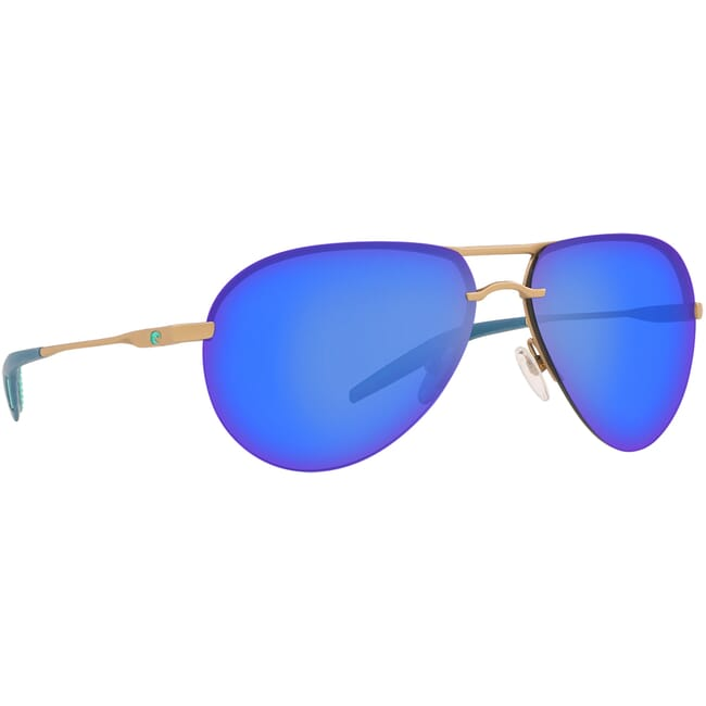 Costa Helo Matte Champagne + Deep Blue/Turquoise Sunglasses HLO-243