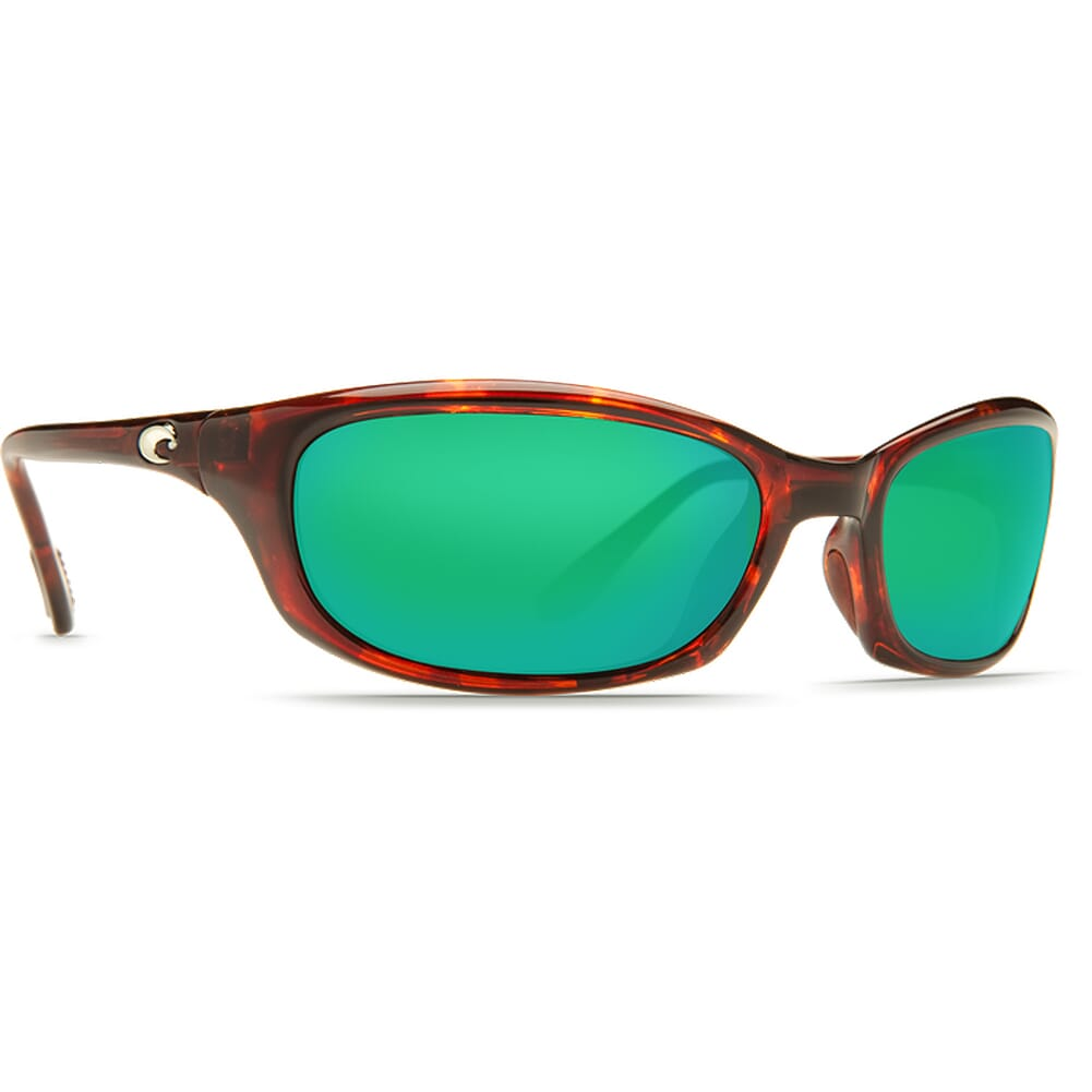 Costa Harpoon Tortoise Frame Sunglasses w/Green Mirror 580G Lenses - New Without Tags 06S9040-90401062