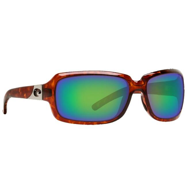 Costa Isabela Tortoise Frame Sunglasses w/ Green Mirror C-Mate 1.50 Lenses IB-10-OGMP-1.50